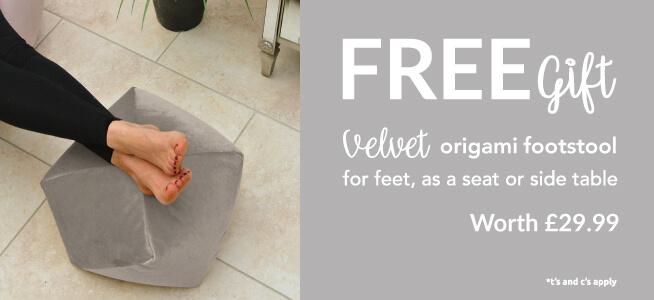 FREE ORIGAMI FOOTSTOOL